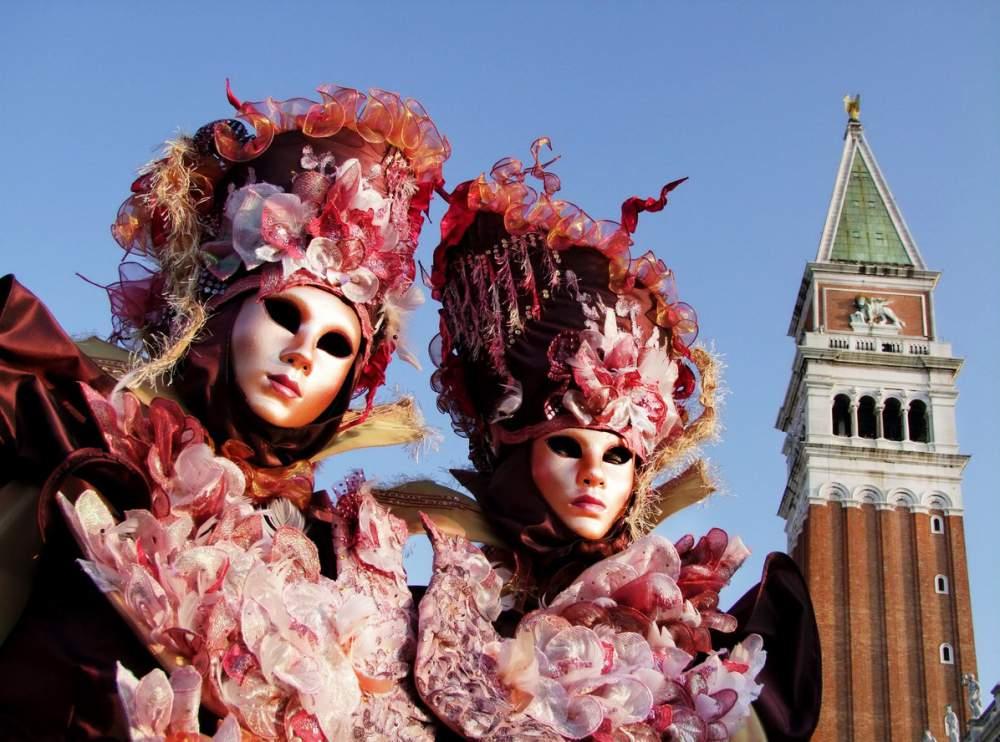 Le caratteristiche maschere di venezia